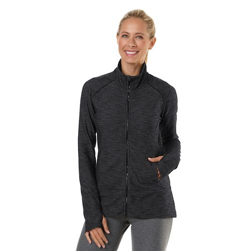 Womens Road Runner Sports Forever Denim Running Jackets - Black Denim L