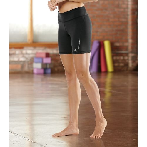"Womens Road Runner Sports Speed Pro Compression 6"" Fitted Shorts - Black L"