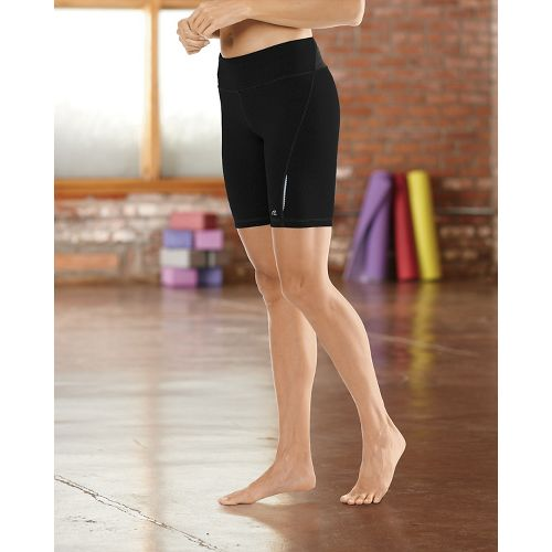 "Womens Road Runner Sports Speed Pro Compression 8"" Fitted Shorts - Black L"