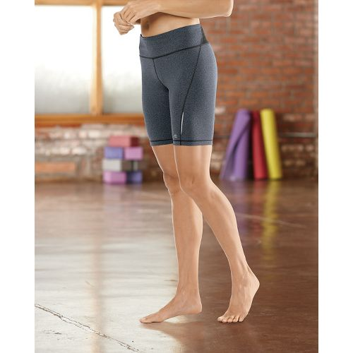 "Womens Road Runner Sports Speed Pro Compression 8"" Fitted Shorts - Heather Charcoal M"