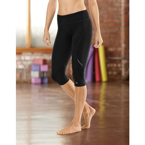 "Womens Road Runner Sports SpeedPro Compression 17"" Knicker Fitted Tights - Black L"