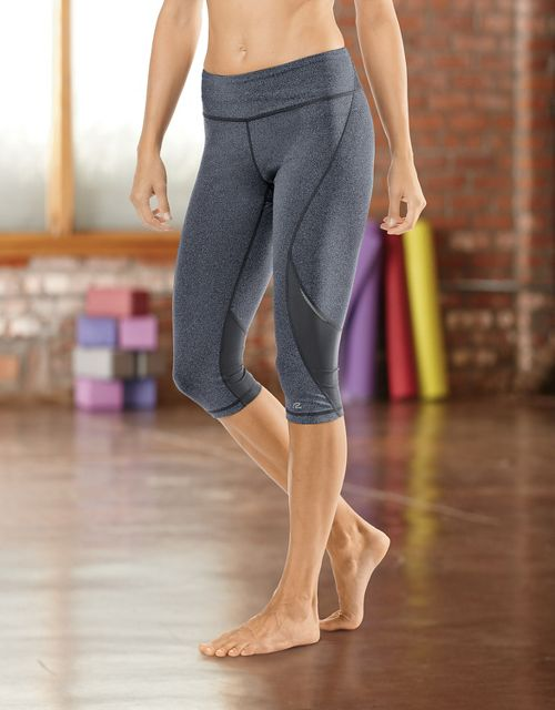 """Womens Road Runner Sports SpeedPro Compression 17"""" Knicker Fitted Tights - Black M"""