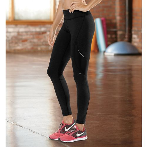 Womens Road Runner Sports Speed Pro Compression Fitted Tights - Black LT