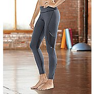 Womens Road Runner Sports SpeedPro Compression Fitted Tights - Heather Charcoal XL-T