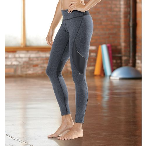 Womens Road Runner Sports SpeedPro Compression Fitted Tights - Heather Charcoal SP