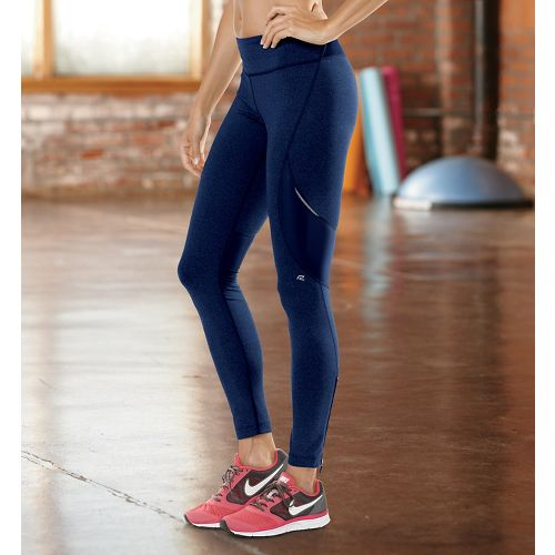 Womens Road Runner Sports SpeedPro Compression Fitted Tights - Midnight Blue L-T