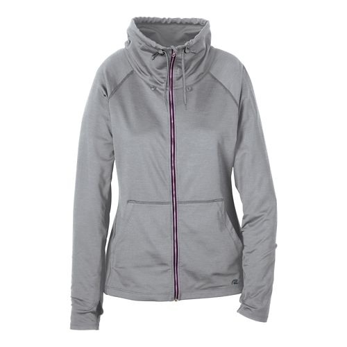 Womens R-Gear Pure-n-Simple Running Jackets - Dove Grey/Mulberry S