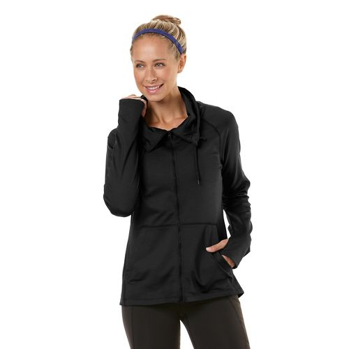 Womens Road Runner Sports Pure-n-Simple Running Jackets - Black L