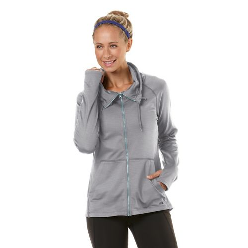 Womens Road Runner Sports Pure-n-Simple Running Jackets - Dove Grey L