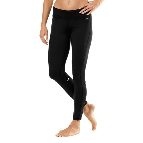 Womens Road Runner Sports Hot Pants Fitted Tights - Black L