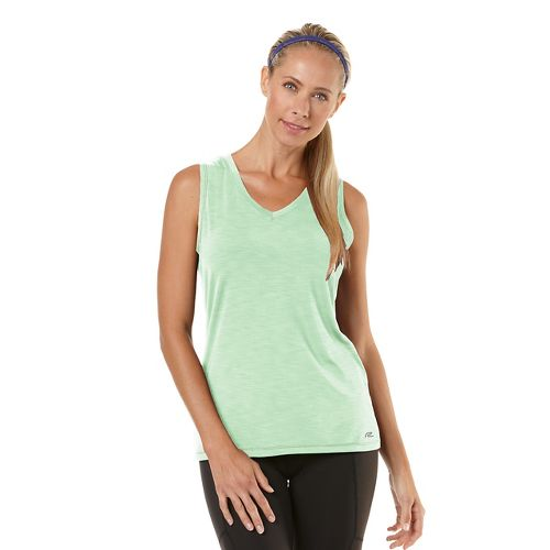 Womens Road Runner Sports Finish First Sleeveless Technical Tops - Heather Mintify L