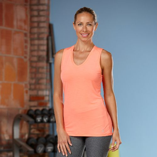 Womens R-Gear Finish First Sleeveless Technical Tops - Heather Just Peachy L