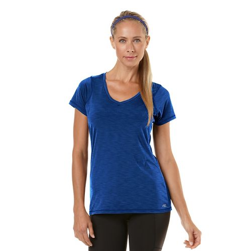 Womens R-Gear Finish First Short Sleeve Technical Tops - Heather Pacific Blue L