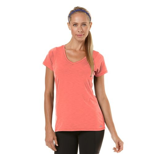 Womens R-Gear Finish First Short Sleeve Technical Tops - Heather Just Peachy XL