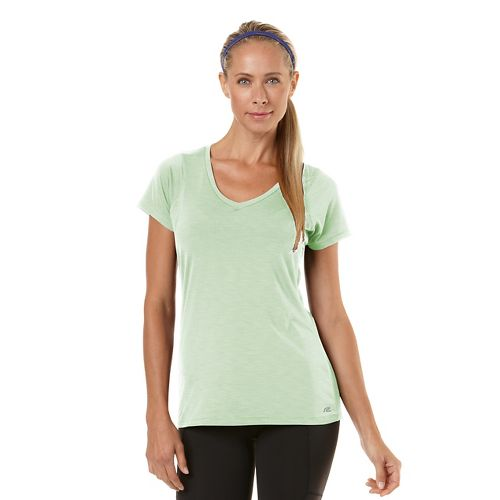 Womens Road Runner Sports Finish First Short Sleeve Technical Tops - Heather Mintify S