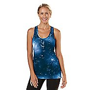 Womens Road Runner Sports Revive Printed Racerback Tanks Technical Tops