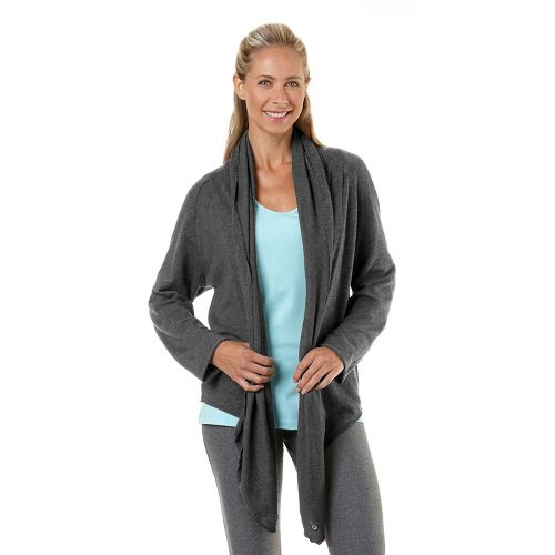 Womens Road Runner Sports Cross Your Heart Cardi Long Sleeve Non-Technical Tops - Heather ...