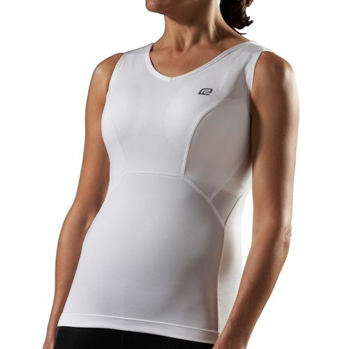 Womens Road Runner Sports Secret Weapon Bra Tank Sport Top Bras - White C