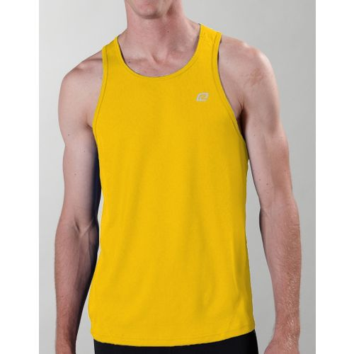 Mens ROAD RUNNER SPORTS Runner's High Singlet Technical Tops - Bold Gold L