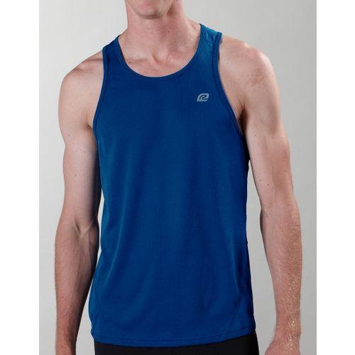 Mens ROAD RUNNER SPORTS Runner's High Singlet Technical Tops - Blue Ink L