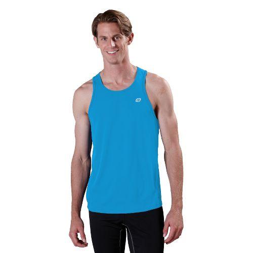 Mens ROAD RUNNER SPORTS Runner's High Singlet Technical Tops - Blue Tropic L