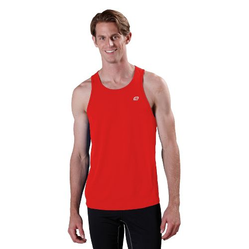 Mens ROAD RUNNER SPORTS Runner's High Singlet Technical Tops - Blazing Red XXL