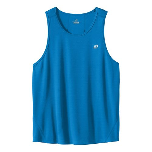 Mens ROAD RUNNER SPORTS Runner's High Singlet Technical Tops - Electric Blue XL