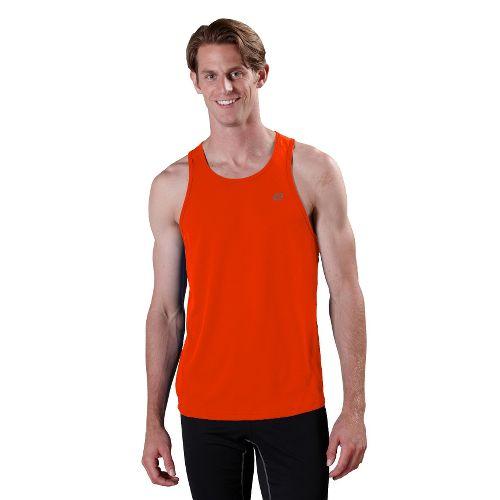 Mens ROAD RUNNER SPORTS Runner's High Singlet Technical Tops - Firecracker Orange XL