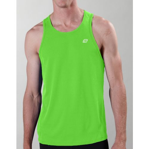 Mens ROAD RUNNER SPORTS Runner's High Singlet Technical Tops - Green Jolt XL