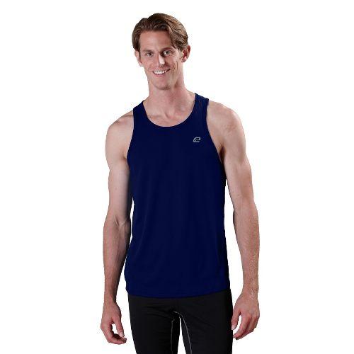 Mens ROAD RUNNER SPORTS Runner's High Singlet Technical Tops - Midnight Blue M