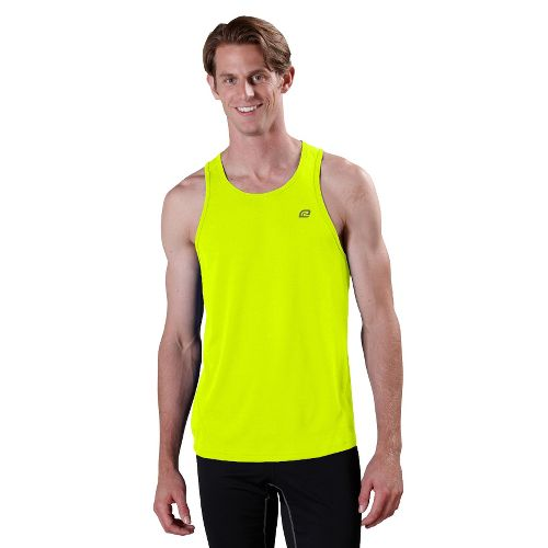 Mens ROAD RUNNER SPORTS Runner's High Singlet Technical Tops - Neon Glow S