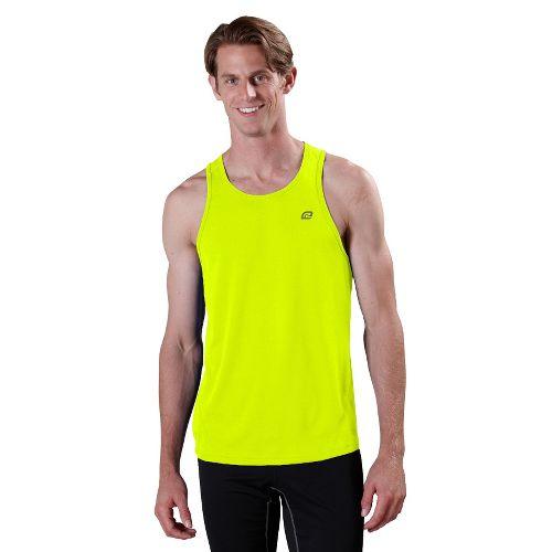 Mens ROAD RUNNER SPORTS Runner's High Singlet Technical Tops - Neon Glow XXL