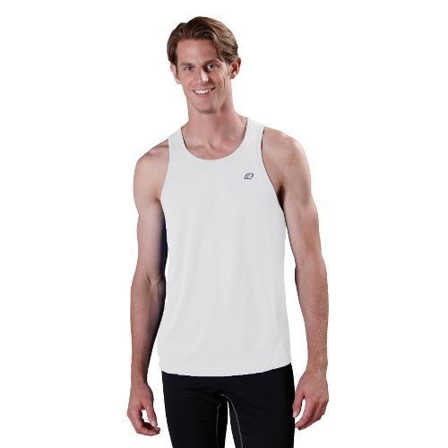 Mens ROAD RUNNER SPORTS Runner's High Singlet Technical Tops - White M