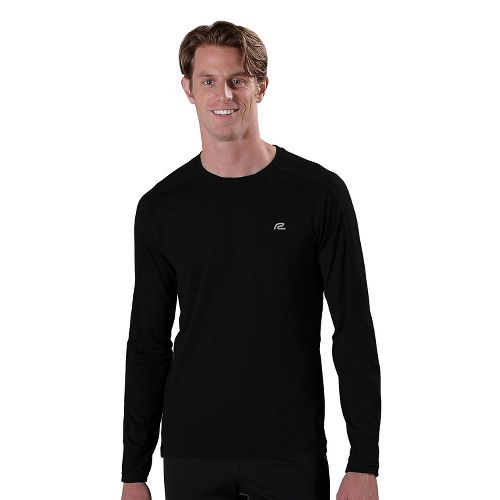 Mens R-Gear Perfect Run Long Sleeve No Zip Technical Tops - Black L
