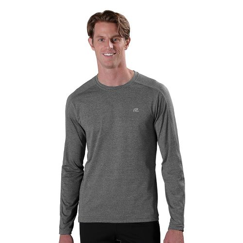 Mens R-Gear Perfect Run Long Sleeve No Zip Technical Tops - Heather Charcoal M