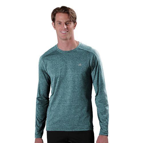 Mens R-Gear Perfect Run Long Sleeve No Zip Technical Tops - Heather Deep Teal L ...