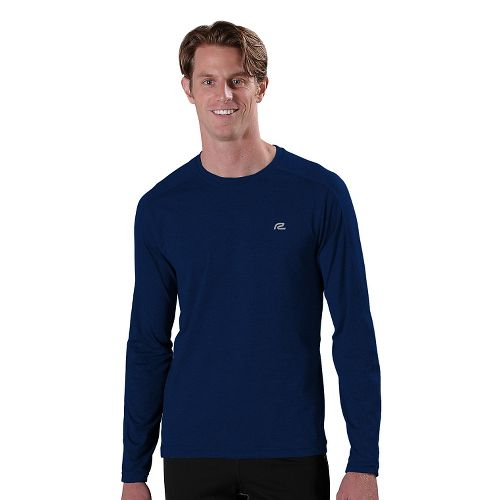 Mens R-Gear Perfect Run Long Sleeve No Zip Technical Tops - Midnight Blue L