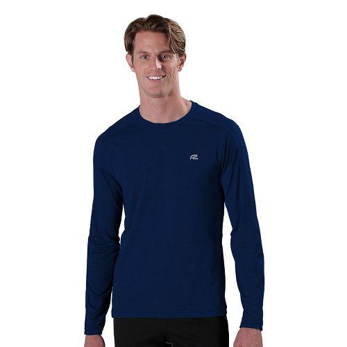 Mens R-Gear Perfect Run Long Sleeve No Zip Technical Tops - Midnight Blue XL