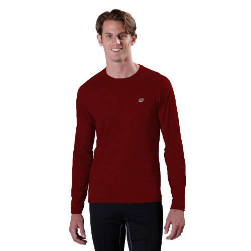 Mens R-Gear Perfect Run Long Sleeve No Zip Technical Tops - Vintage Red XL