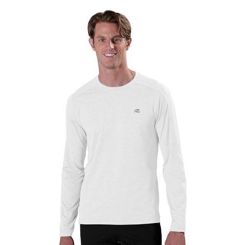 Mens R-Gear Perfect Run Long Sleeve No Zip Technical Tops - White XXL