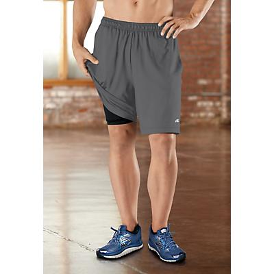 """Mens Road Runner Sports Power Boost 2-in-1 8"""" Shorts"""