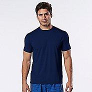 Mens Road Runner Sports All Day Crew Short Sleeve Technical Tops - Midnight Blue XXL