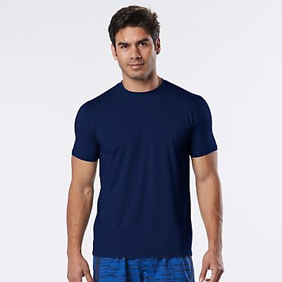 Mens Road Runner Sports All Day Crew Short Sleeve Technical Tops
