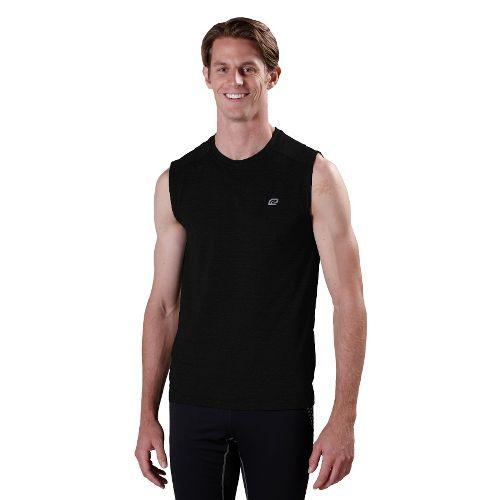 Mens Road Runner Sports Perfect Run Sleeveless Technical Tops - Black L