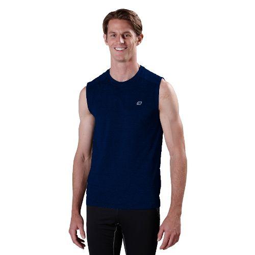 Mens Road Runner Sports Perfect Run Sleeveless Technical Tops - Midnight Blue XXL