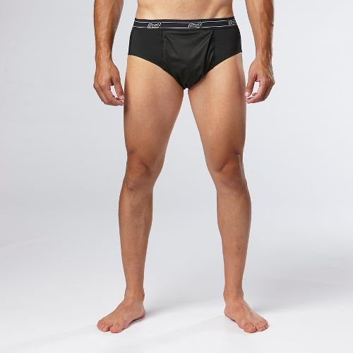 Mens Road Runner Sports Block The Elements Brief Underwear Bottoms - Black XXL
