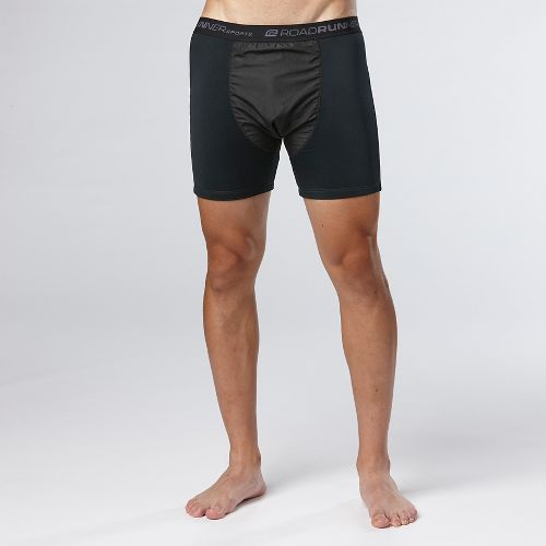 Mens Road Runner Sports Block The Elements Boxer Brief Underwear Bottoms - Black L