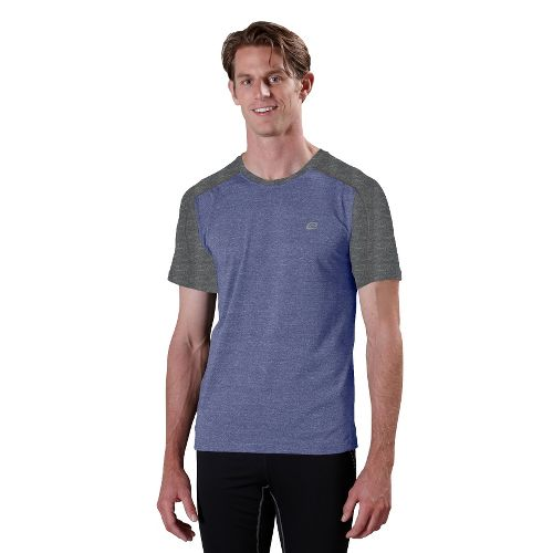 Mens ROAD RUNNER SPORTS Base Runner Short Sleeve Technical Tops - Heather Cobalt/Heather ...