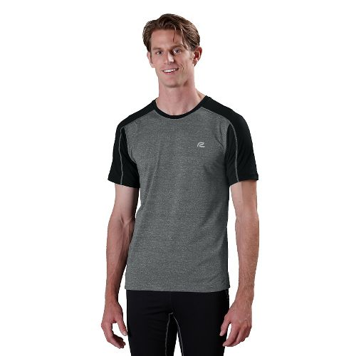 Mens ROAD RUNNER SPORTS Base Runner Short Sleeve Technical Tops - Heather Charcoal/Black S
