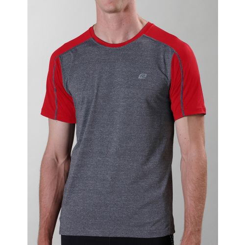 Mens ROAD RUNNER SPORTS Base Runner Short Sleeve Technical Tops - Heather Charcoal/Fire S